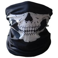 2016 Bicycle Ski Skull Half Face Mask Ghost Scarf Multi Use Neck Warmer Game Outdoor Paintball Motorcycle Cycling Beanies