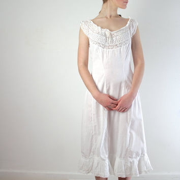 1910 Dress / Edwardian Dress / Antique Lace Dressing Gown