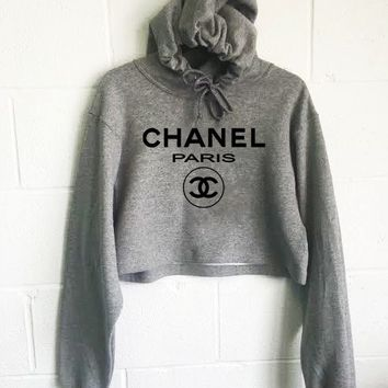 Chanel Paris Cropped Hoodie
