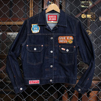 Anti-Schoolgirl Dark Denim Jacket