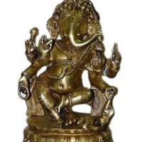 Ganesh Brass Statue Dancing Posture from India