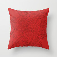 Ancient Rome in Red Throw Pillow by Upperleft Studios
