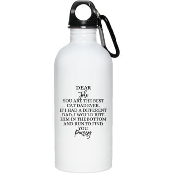 Funny Personalized Cat Dad 23663 20 oz. Stainless Steel Water Bottle