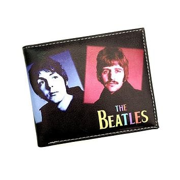 The Classic Rock and Roll Orchestra People Purse the Beatles iron Lady Guns and Roses Cartoon Man Wallet