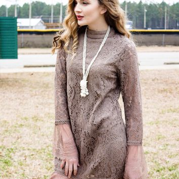 Lovely Lace Overlay Dress