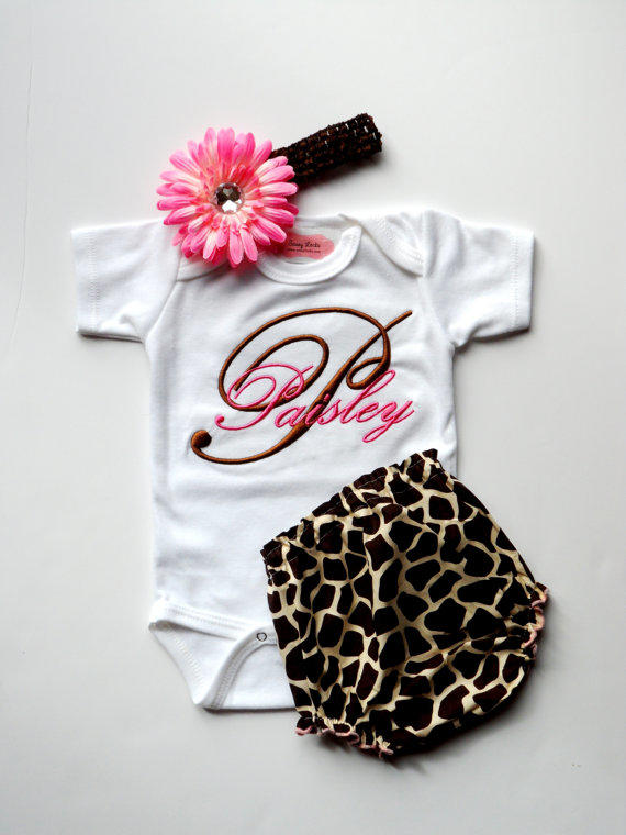Personalized Baby Girl Clothes Newborn from LilMamas on Etsy