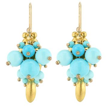 Ted Muehling Sleeping Beauty Turquoise Bug Earrings