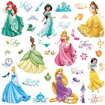 Roommates Rmk2199Scs Disney Princess Royal Debut Peel And  Stick Wall Decals