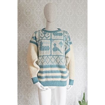 Vintage 1980s Icelandic + Wool Sweater