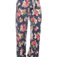 Floral Print Pants- In Stock