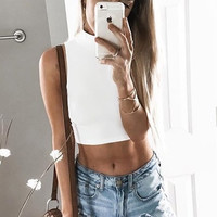 Rock It Mock Neck Crop Top (MORE COLORS)