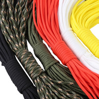 10M 7 Core Paracord String 33FT Camping Hiking Rope Parachute Cord Lanyard Rope Mil Spec Type Outdoor Survival Tool 6 Colors