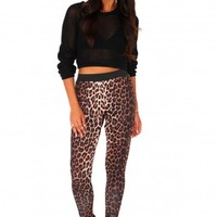 Missguided - Eliam Leopard Tapered Trousers