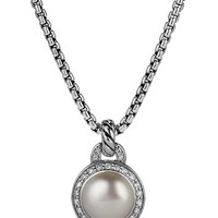 David Yurman 'Cerise' Petite Cerise Pendant Necklace with Pearl and Diamonds | Nordstrom