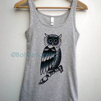 JUSTIN BIEBER OWL Tattoo Tank Top