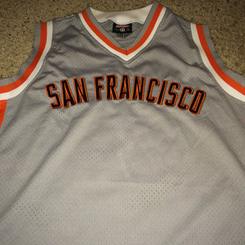 Sale!! Vintage Stitches SAN FRANCISCO GIANTS Baseball Jersey in Basketball Style Shirt Rare Mbl Sf Giants Merch