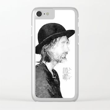 Thom Yorke Watercolor portrait by MrNobody Clear iPhone Case by Mrnobody