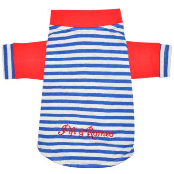 Fifi & Romeo Limited Edition Cotton Stripe T-Shirt - Red, White, & Blue