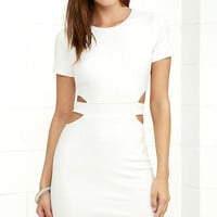 Feeling the Heat White Cutout Bodycon Dress