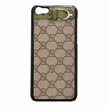 gucci green leather trim de2b7682-bd07-40b7-b6ad-b377fae27e48 FOR iPhone 5C CASE *NP*