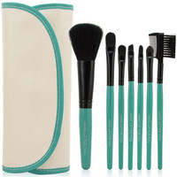 Coral Travel Green Brush Kit,7 Piece 1 set