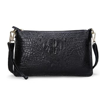 Women's Handbags Split Leather Fashion Alligator Pattern Party Evening Clutch Bag Ladies Leather Women Messenger Shoulder Bags