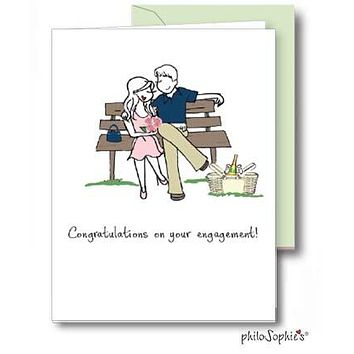 Congratulations - Engagement/Shower Greeting Card