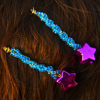 Beaded Star Bobby Pin Handmade Gift under 10 by NekozukiYarns