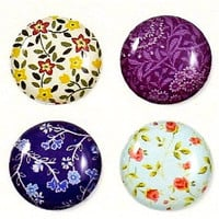 Floral Patterns - 8 Piece iPhone Home Button Stickers for Apple iPhone, iPad, iPad Mini, iTouch