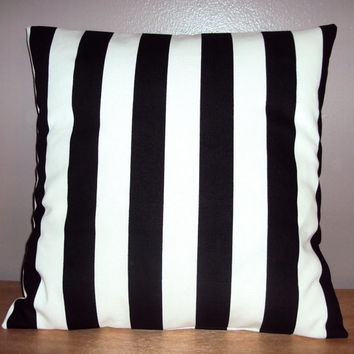 Black and White Stripe Decorative Pillow Cover - Available In 3 Sizes - BESTSELLER