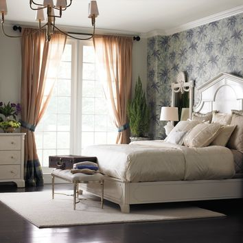 Stanley Furniture Charleston Regency Queen Cathedral Bed in Ropemakers White 302-23-40