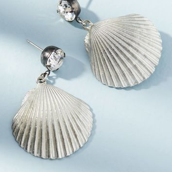 Shiny Shell Drop Earrings