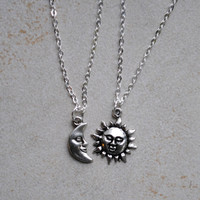 Sun and Moon Friendship Necklaces
