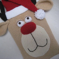 Hot Water Bottle Cover Rudolph PJ Pyjama Case Crochet --- PATTERN --- PDF