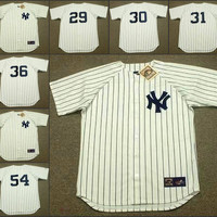 Men 30 WILLIE RANDOLPH 31 DAVE WINFIELD 36 DOCK ELLIS 54 RICH GOSSAGE New York Yankees 1969 Throwback Away Jersey Baseball Jersey stitched