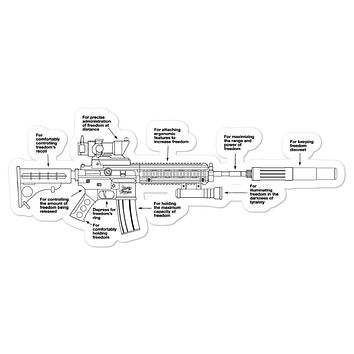 Components of Freedom Sticker