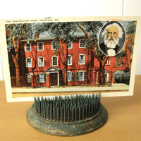 Vintage Postcard Longfellow Home Portland Maine Collectible Historical Ephemera