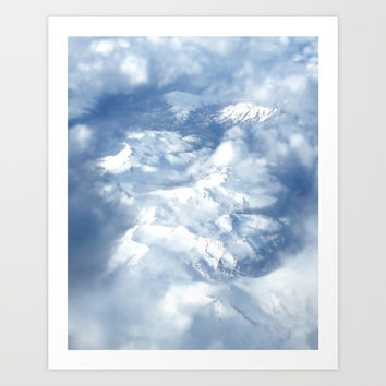Mountains & clouds Art Print by Viviana Gonzalez