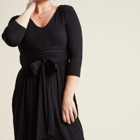 Jersey Knit Dress with Wrap Ties