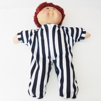 Cabbage Patch KIDS 16 inch Doll Clothes Pajamas 'Liam in Blue Stripes' handmade …