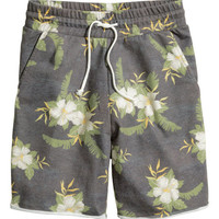 Printed Sweatshorts - from H&M