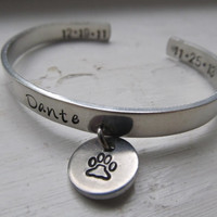Pet Memorial Bracelet Personalized Pet Bracelet Aluminum Pet Cuff Dog Bracelet Cat Bracelet Loss of Pet Bracelet
