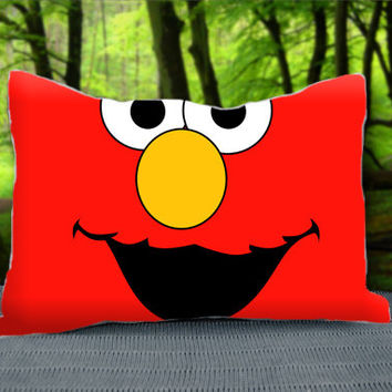 "Funny Red Elmo Face Custom Pillow Case 30"" x 20"""