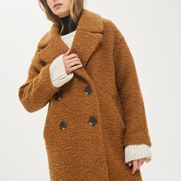 ALICIA Boucle Slouch Coat | Topshop