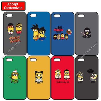 Funny Minion Cover Case for iPhone 5 5S SE 6 6S 7 8 Plus X XS Max XR Samsung Galaxy Note 8 9 S6 S7 S8 S9 Edge Plus
