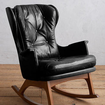 Premium Leather Finn Rocking Chair