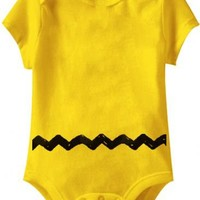 Peanuts Charlie Brown Costume Yellow Infant Baby Onesuit Romper - Peanuts - | TV Store Online