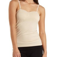 Convertible Padded Shelf Bra Cami by Charlotte Russe