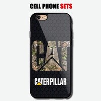 Cat Caterpillar Camo Hexa Design Automotive Logo Custom For iPhone Case Cover