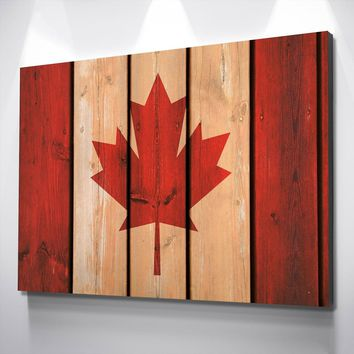 Canada on Wood Canvas Set